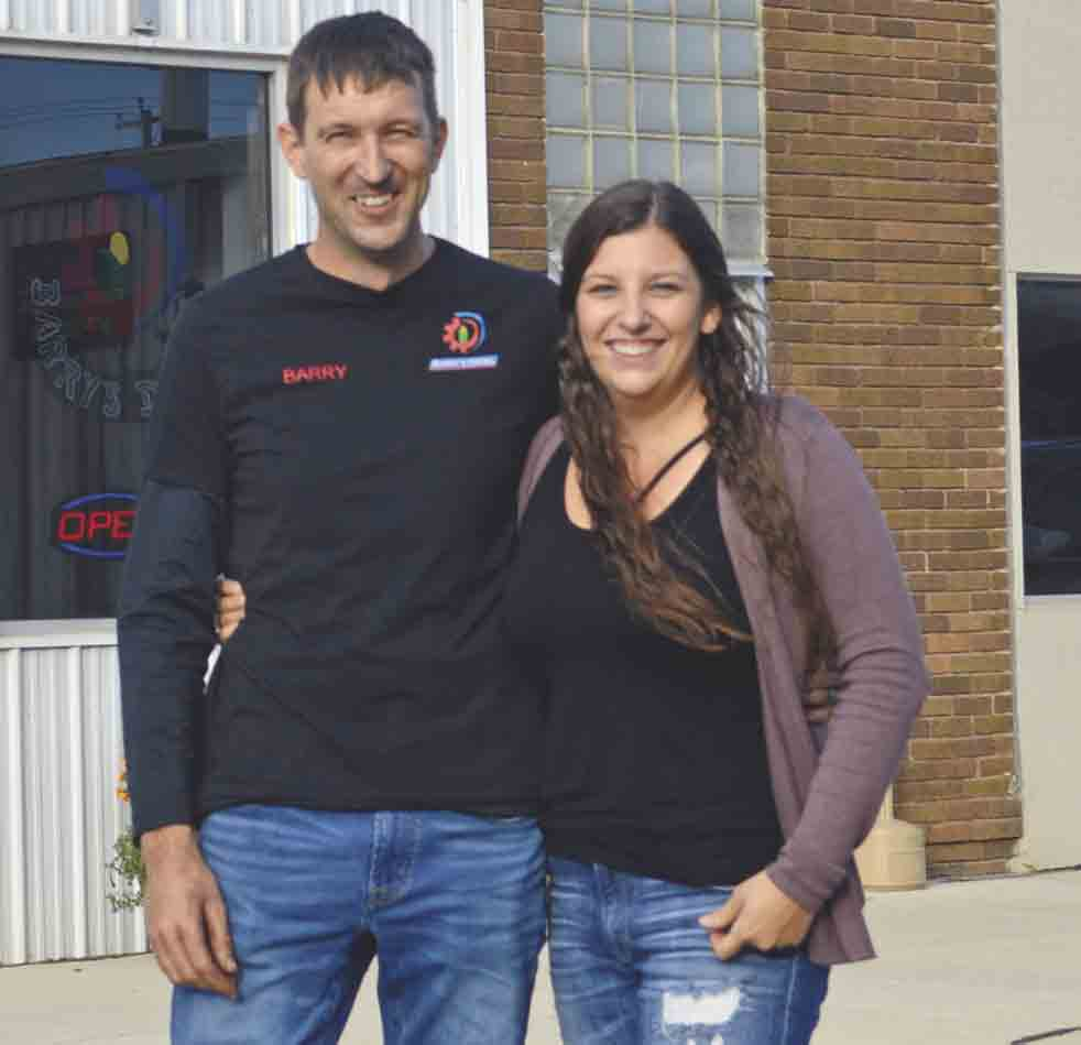 Barry and Kelly de Klerk, owners of the newly opened Barry's Diesel in Calmar, are happy to be serving their new community and area farmers. Barry is a native of South Africa, while Kelly (Novak) is from Spillville. (Zakary Kriener photo)Barry's Diesel open for...