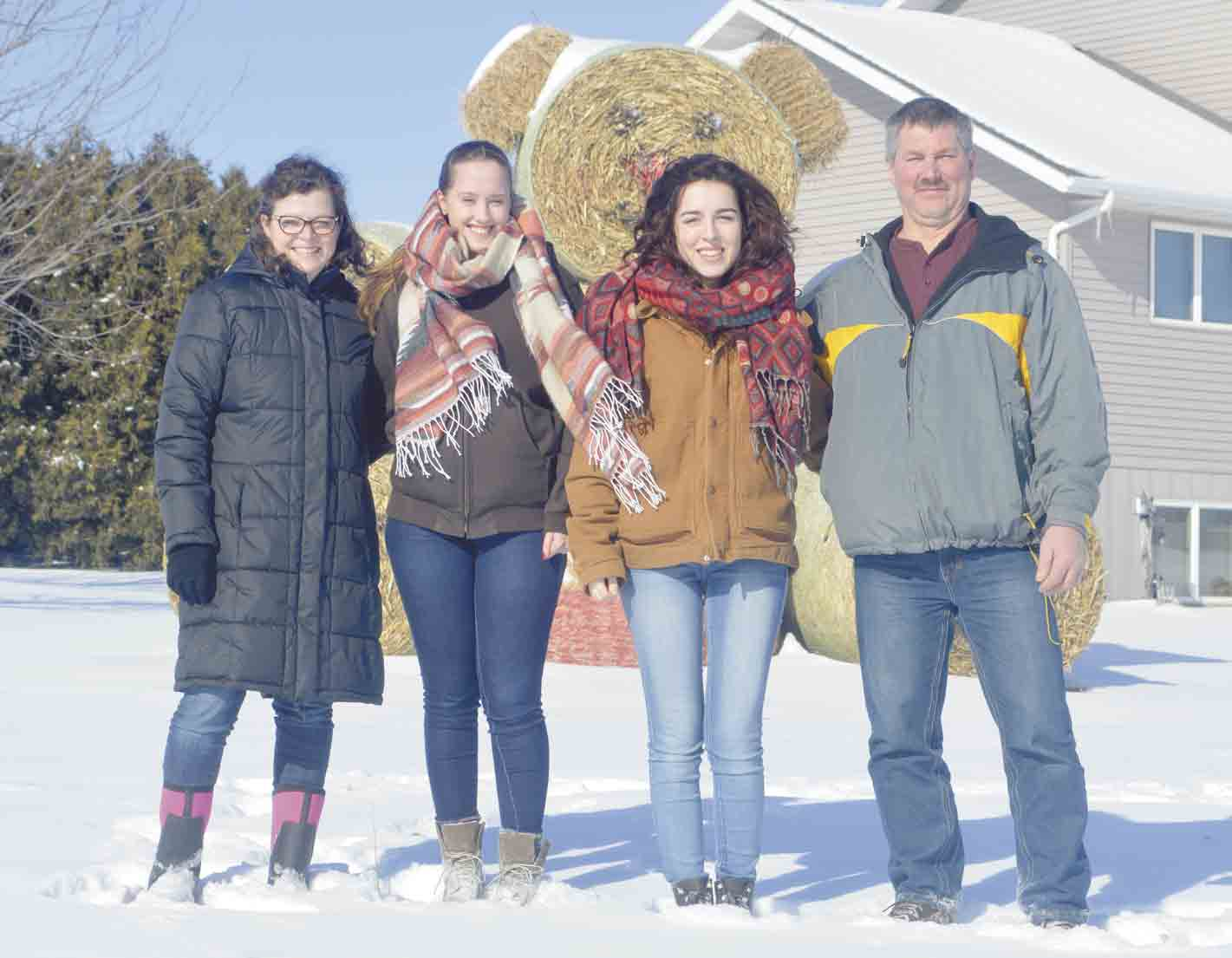 Richard (far right) and Barb (far left) Best of rural St. Lucas recently embarked on a new, but somewhat familiar, adventure prior to the start of the 2017-2018 school year by hosting (l-r) Svenja Fuchs and Smilla Savorelli as foreign exchange students for the year. (Zakary Kriener photo...