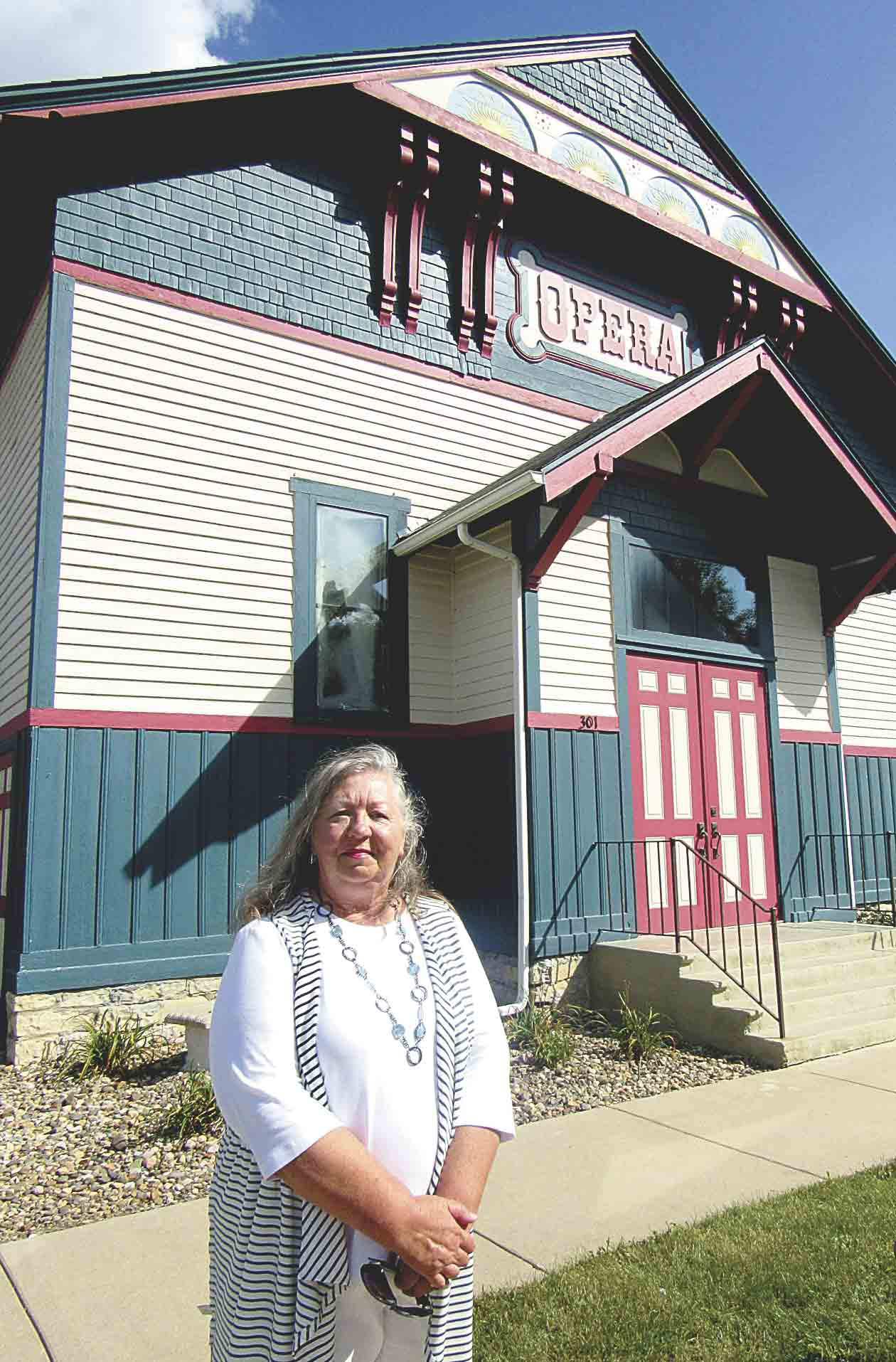 Bonnie Bishop, volunteer for the Fayette County Tourism Council, will be the guide for the 'Music on the Move' bus tour to three historic sites, including Oelwein Coliseum, Clermont Opera House and Fayette Opera House (pictured) in Fayette County on Sunday, Sept. 23. Call Carrie...
