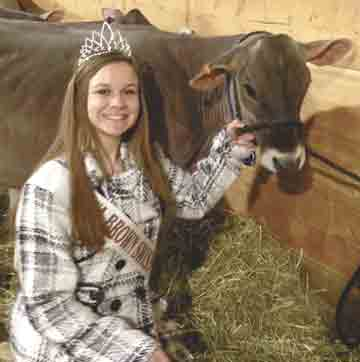 The Iowa Brown Swiss Association has a new princess in Faith Johnston of Clermont. She has been involved with the Brown Swiss breed since she was 7 years old. (Submitted photo)Johnston crowned Iowa Brown Swiss PrincessBy Chris Debackcdeback...