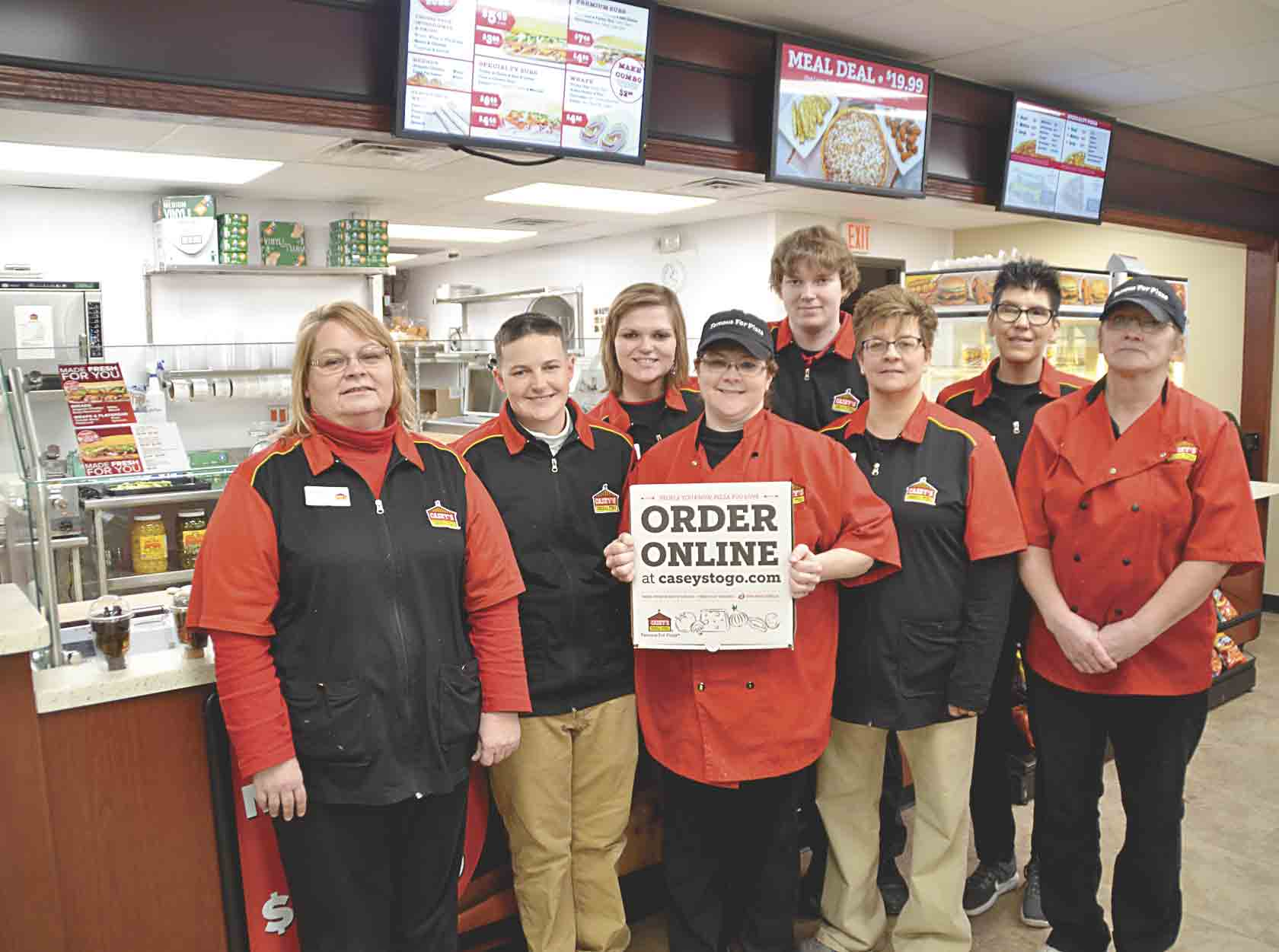 Casey's General Store in Clermont will host a Grand Reopening event on Friday, Jan. 12, to celebrate the expansion of the business's building. Casey's employees, including (front, l-r) general manager Henrietta De La Rosa, Lisa LaBrec, and Michelle Welsch; (second row)...
