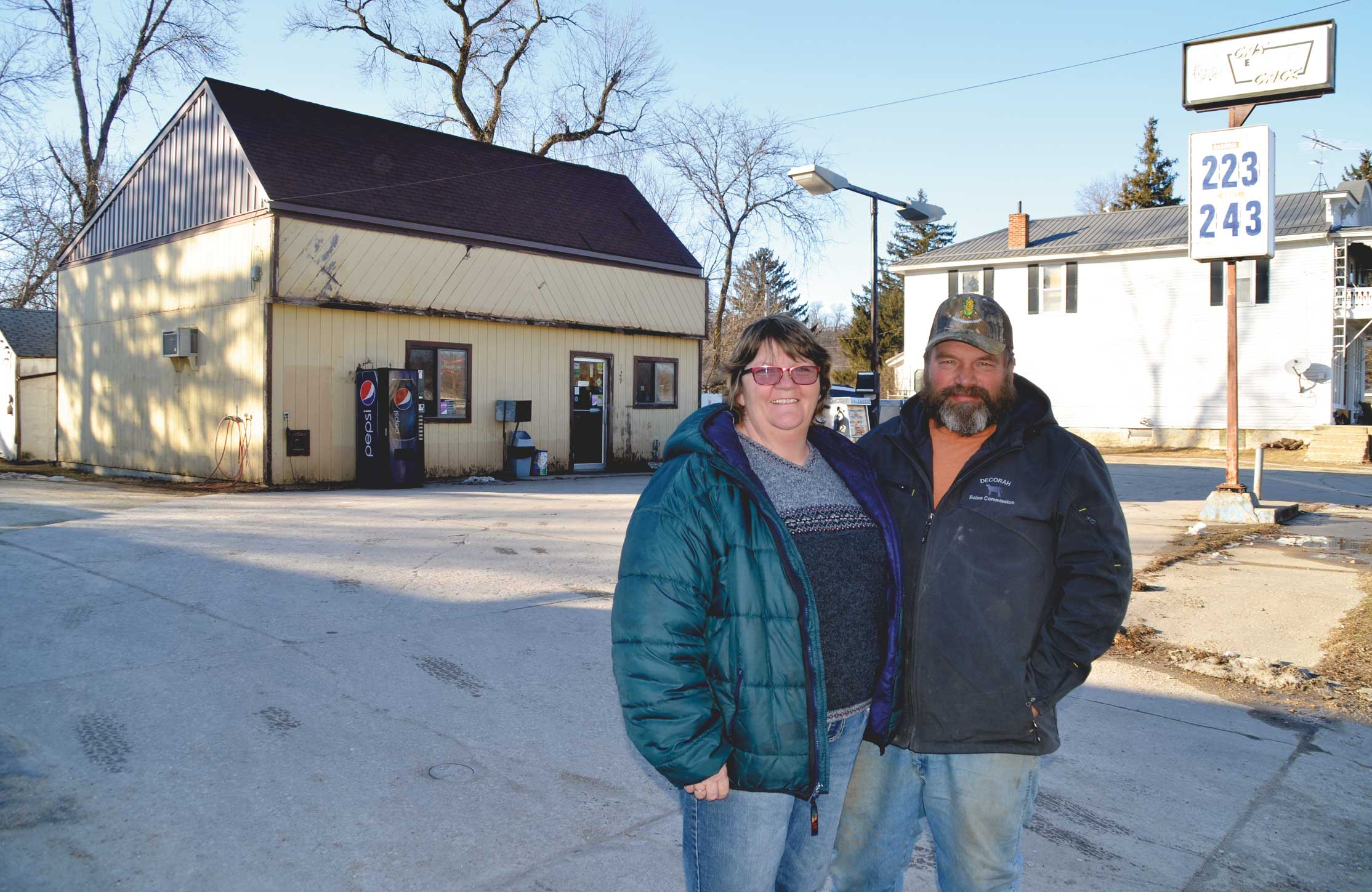 SueAnne and Bob Opperman (l-r) recently purchased Charley's Gas Gage in Wadena from Charley Daisy of Arlington. Daisy also sold his Arlington and Volga locations to Zak Lefs of Waverly.  Chris DeBack photo 	Oppermans buy Charley's Gas Gage ...