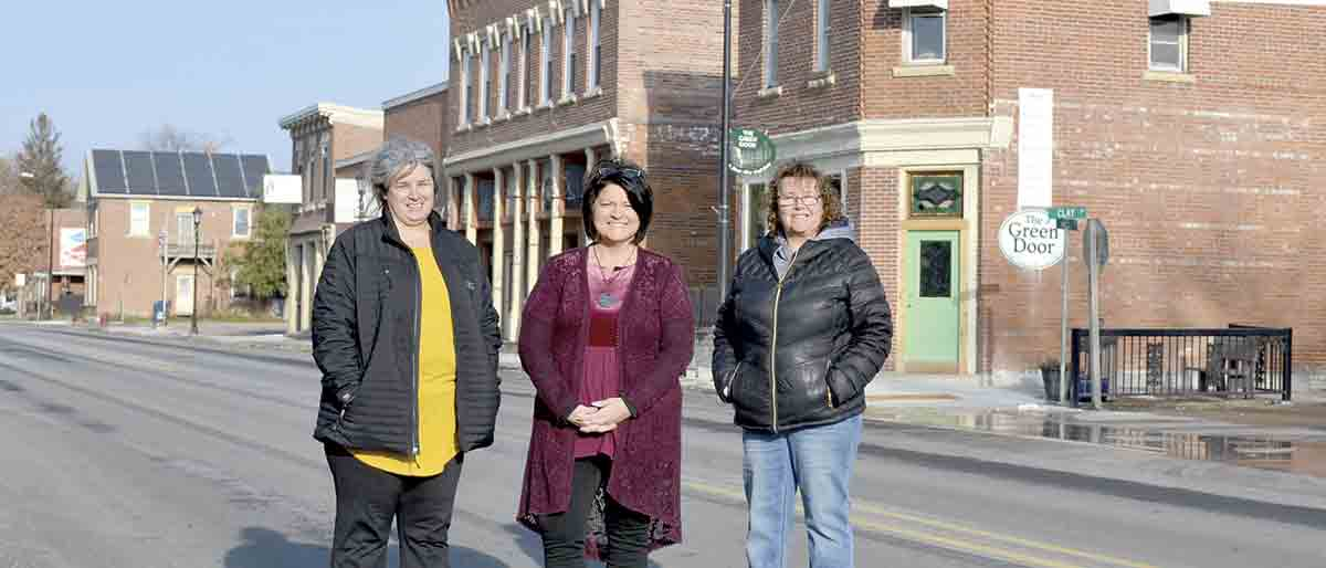 When repairs to highway 18 and city sidewalks slowed down traffic through downtown Clermont, area business owners such as (l-r) Merry Stover, Lisa Davis, and Luann Alber found they had to make adjustments as the improvements were made.(Megan Molseed photo)Clermont...