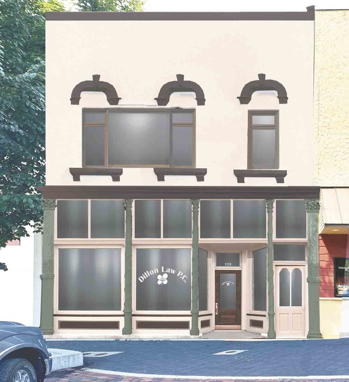 Main Street Iowa created the design concept proposal for the rehabilitation of the Dillon Law Office in West Union.Makeover proposed for downtown WU business frontBy Jack Swansonjswanson@fayettecountynewspapers.comI t appears a historic downtown building will be getting a new...