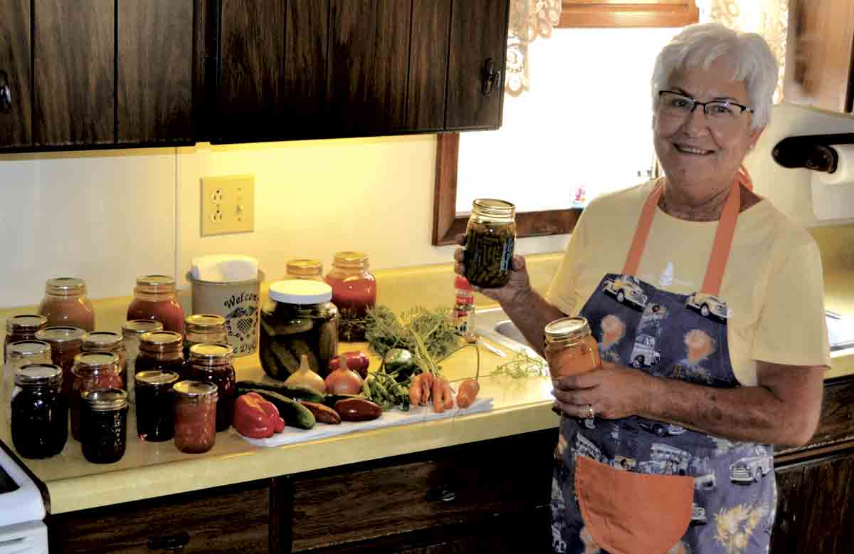 Karen Dyke started canning many years ago, and it quickly became one of her favorite pastimes. One of the most rewarding aspects of her hobby is watching granddaughters Ashley and Erica begin to take an interest in canning as well. (Erica Dyke photo)Preserving goodness through...
