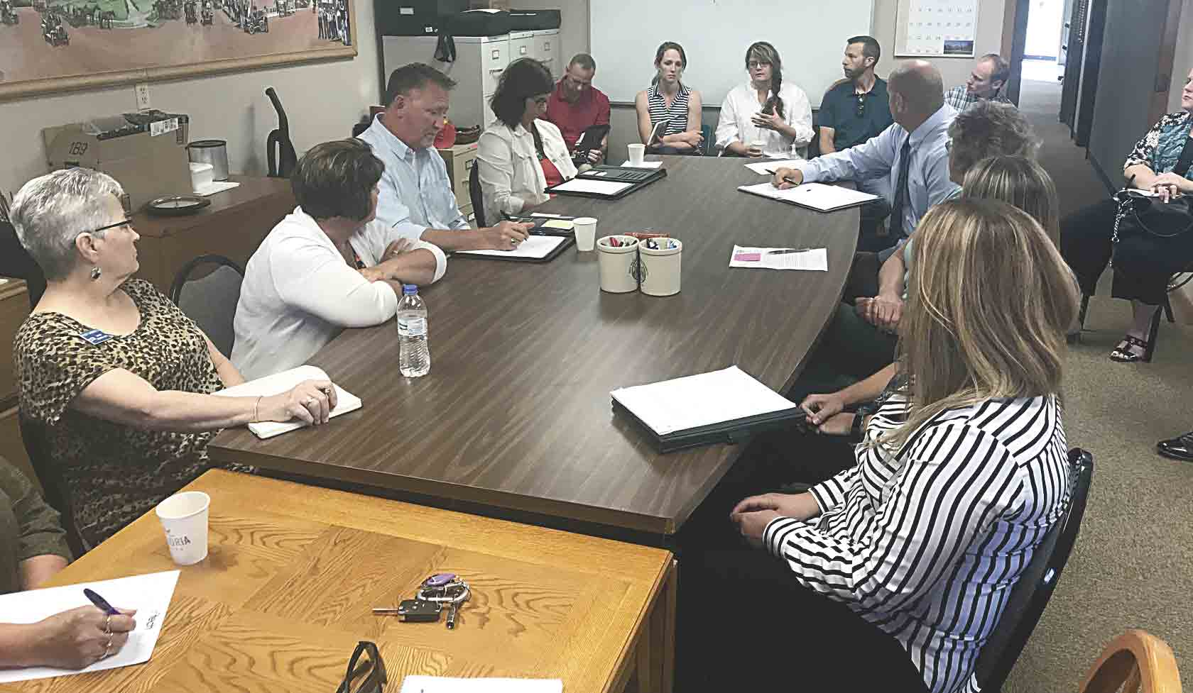 The new Fayette County Economic Development & Tourism organization held its first official meeting on Wednesday, July 10, with potential partners from Fayette County cities, utilities, and banks gathering to meeting and ask questions of new Fayette County Economic Development Director Mallory...