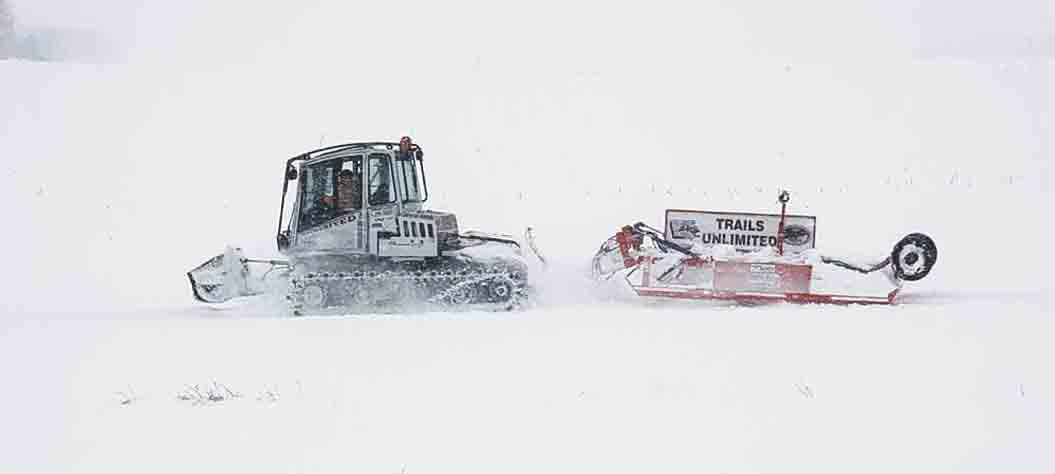 The Trails Unlimited groomer, which consists of a Prinoth Trooper that pulls a Maxey drag, covers approximately 150 miles of trails through Winneshiek and Fayette counties. The groomer helps make trails more suitable and more enjoyable for all riders. (Zakary Kriener photo) ...