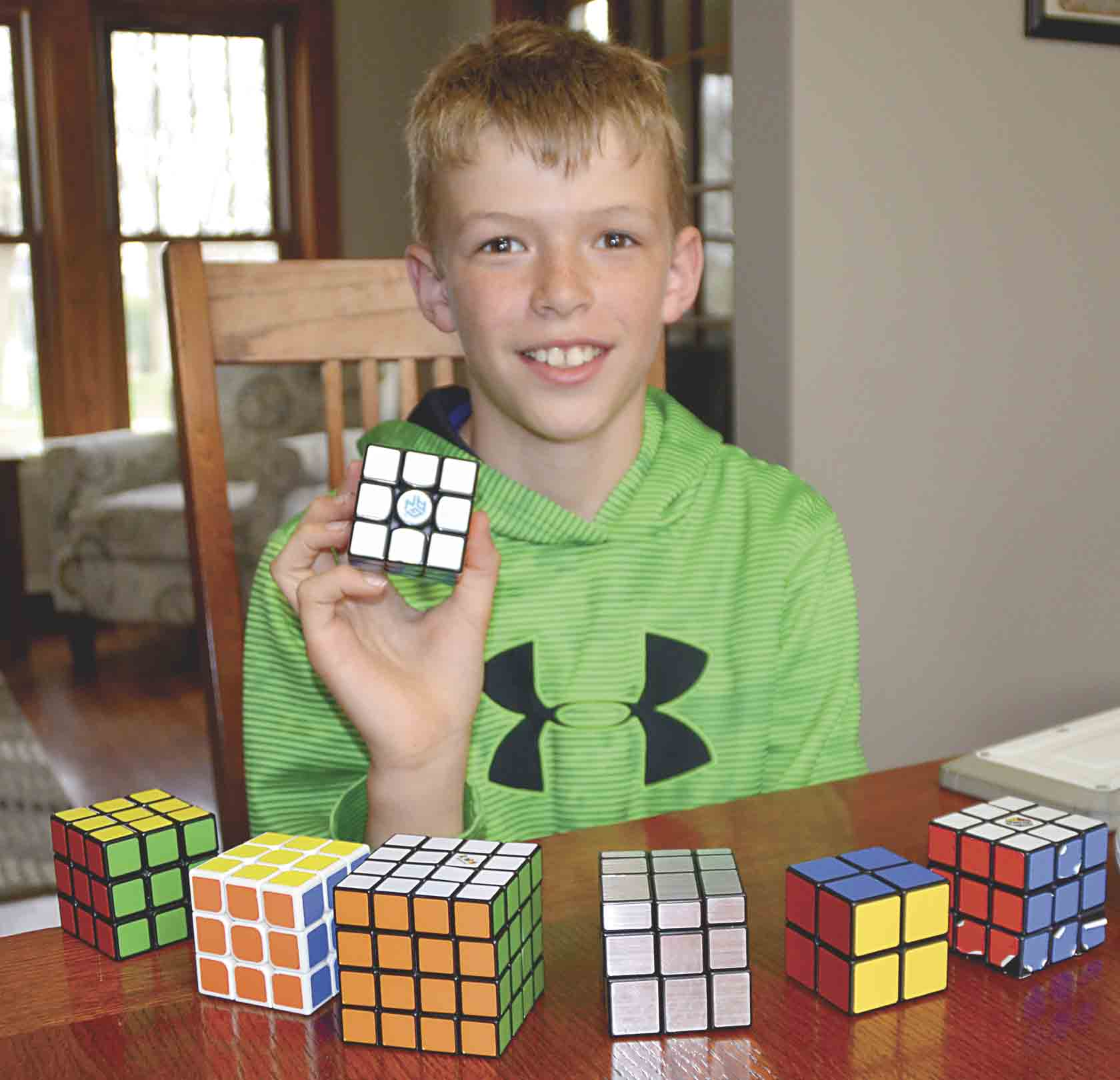 A few years ago, Decklyn Heins discovered the simple, yet complex Rubik's Cube on a random trip to Walmart. Since then, he has used YouTube to learn how to quickly solve the popular 1980s puzzle and moved onto other variations of the original. He recently bought a Speedcube Rubik...
