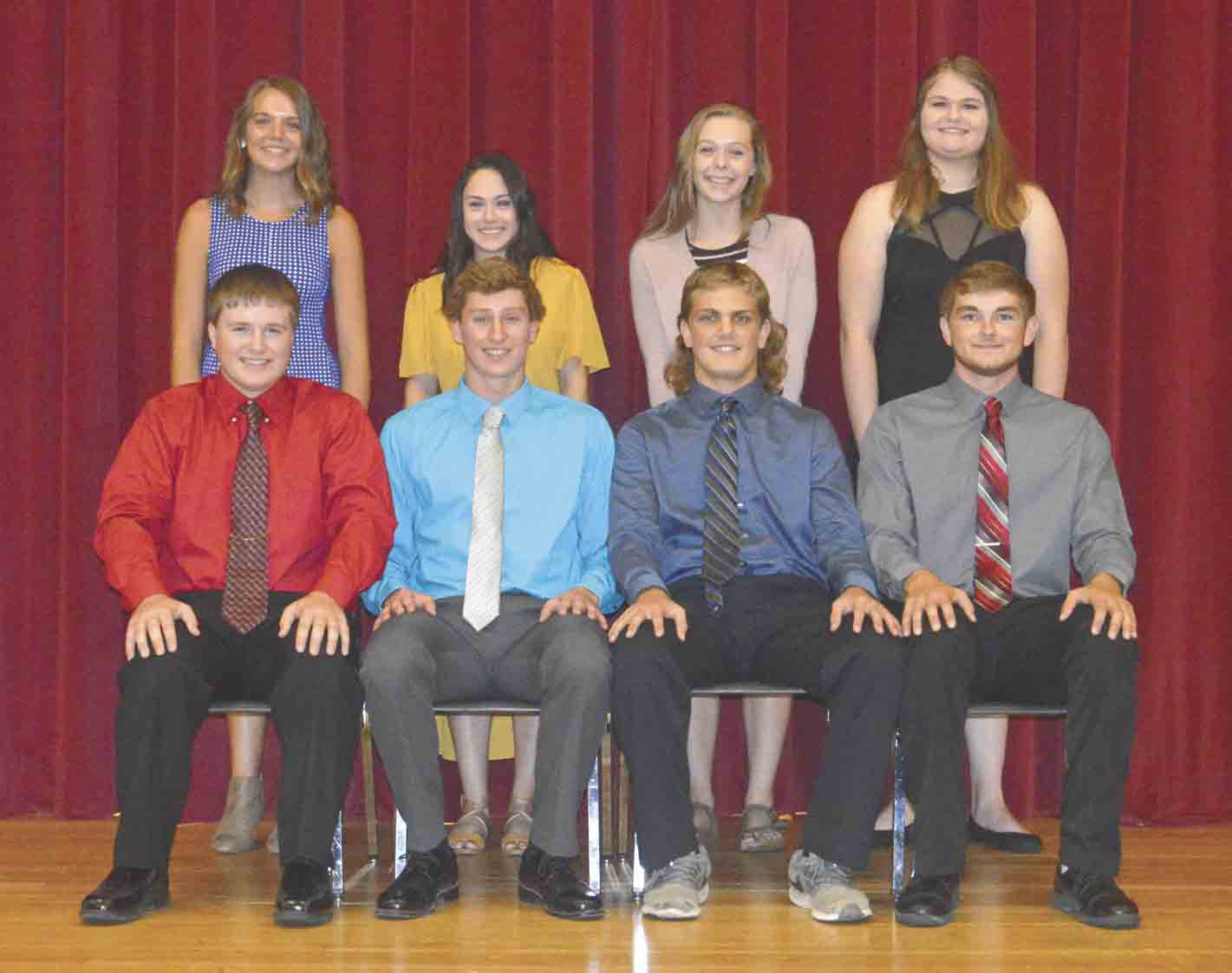 North Fayette Valley is celebrating Homecoming Week, Monday-Friday, Sept. 18-22, with a Homecoming parade and community pep rally at 7 p.m. Thursday, Sept. 22, on the courthouse square in West Union. The 2017 North Fayette Valley Homecoming Court includes (front, l-r) Gene Anne Berst, Marin...