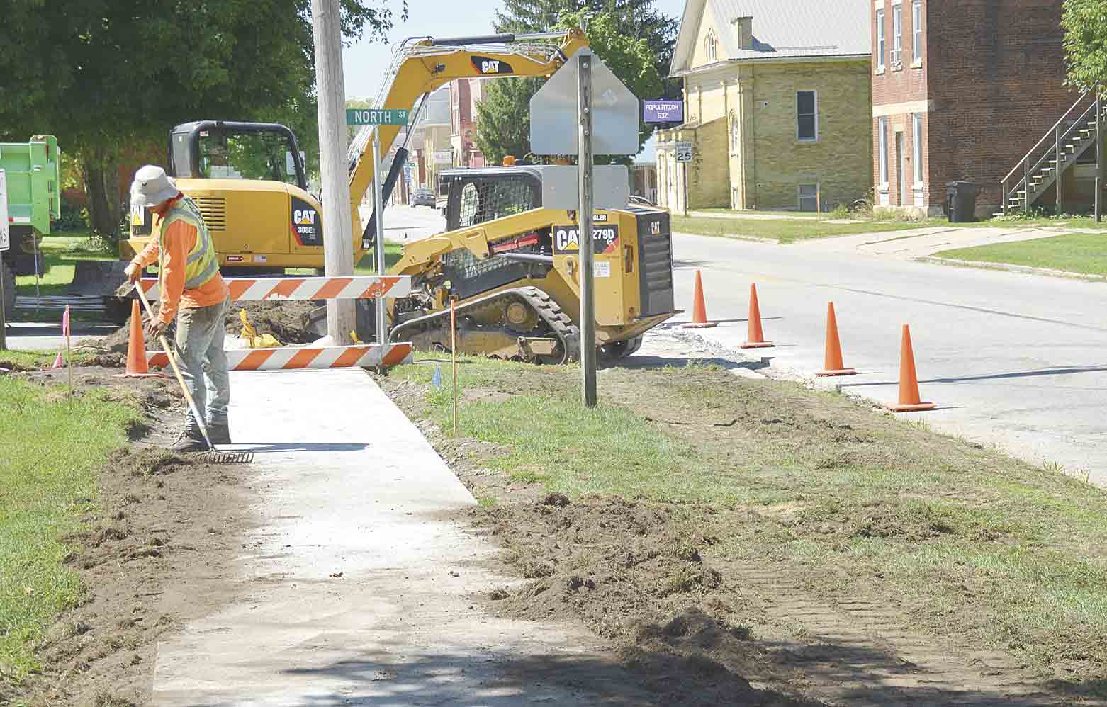 Installing new cement sidewalks and ramps in Clermont is part of the Highway 18 repair and repaving project by the Iowa DOT.Work to continue until November on Highway 18By Jack Swansonjswanson@fayettecountynewspapers.comRegular commuters from Clermont to...