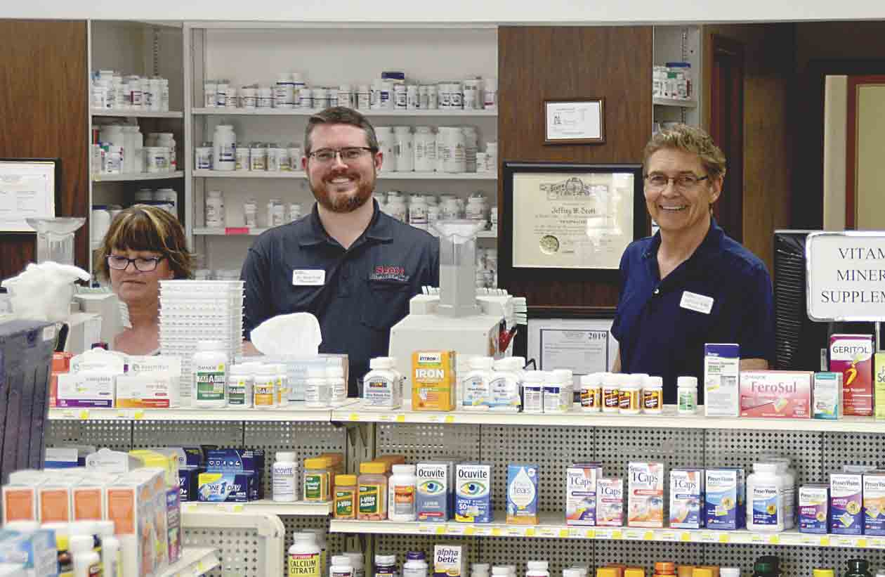 Scott Pharmacy in Fayette is celebrating 40 years in business from 9 a.m. to 3 p.m. Tuesday, June 18. Co-owners (l-r) Jeff and David Scott are excited to share the milestone with the area residents that have helped make their business so successful. (Chris DeBack photo)...