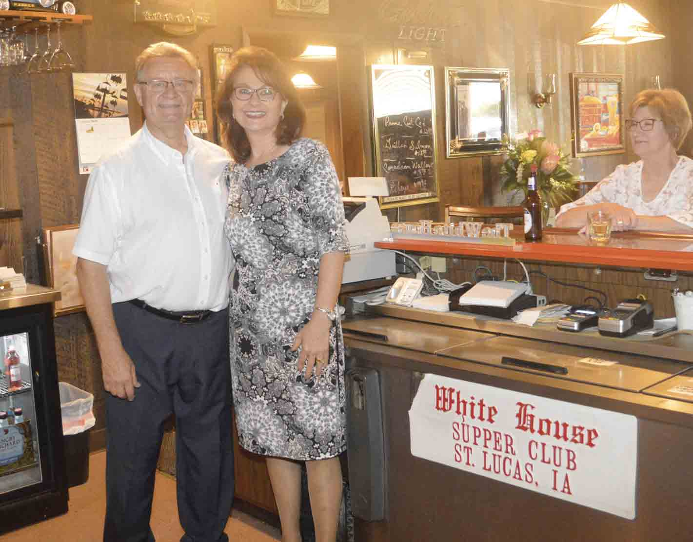 For 42 years, St. Lucas natives John and Jann Kuehner have owned and operated The White House Supper Club in St. Lucas. The well-known establishment, which attracted customers from all throughout northeast Iowa on a nightly basis, officially closed its doors Friday evening. (Zakary Kriener photo...