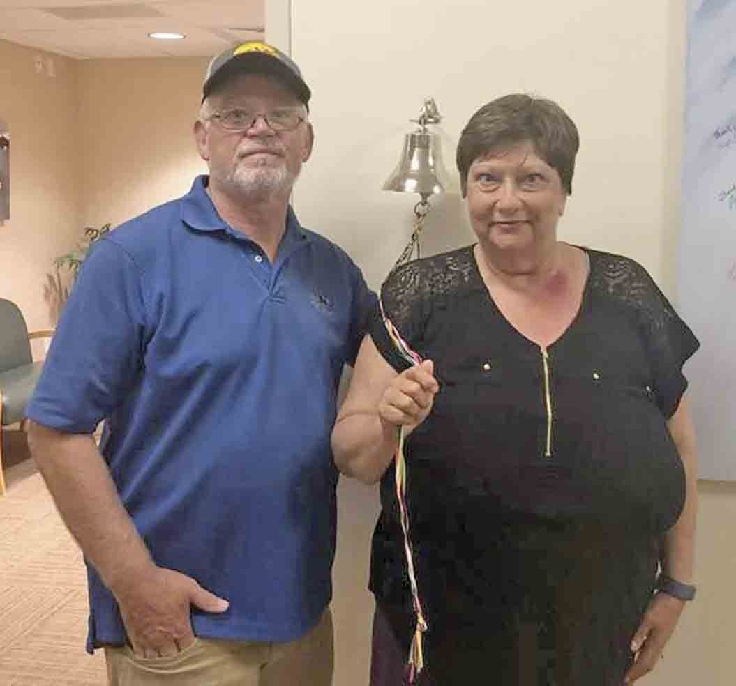 With the help of husband Kevin (left) by her side, Spillville's Joyce Meyer has had an eventful past year. She was diagnosed with breast cancer in November (2018) and underwent surgery, chemotherapy, and radiation until Sept. 30 when she completed her final treatment at Gundersen in La Crosse...