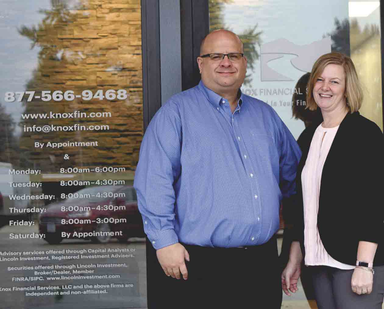 Jason and Amber Knox are excited about the recent opening of Knox Financial Services, LLC at 309 Hwy. 150 N., West Union. They look forward to serving their West Union area clients at their new location, but will continue to divide their time between their two offices in Decorah ad West Union. (...