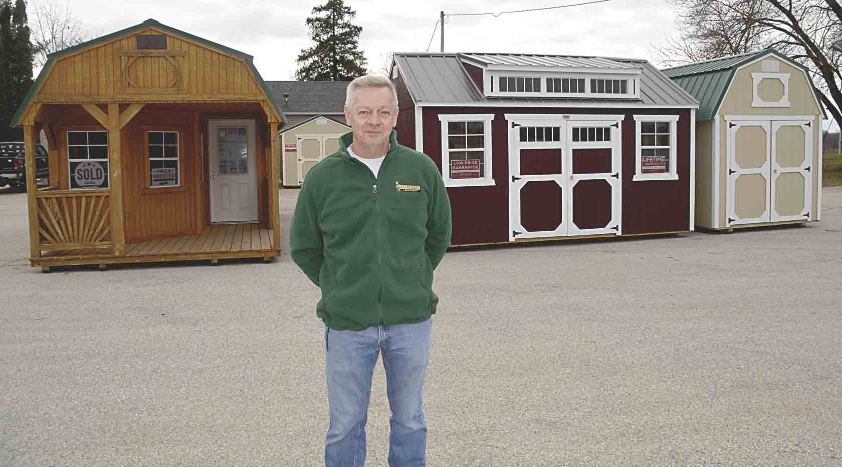 Roger (pictured) and Joni Loftsgard have started a new business in Clermont R&J Loftsgard Old Hickory Shed will be selling Old Hickory Buildings along Highway 18 in Clermont. Chris DeBack photoLoftsgards open Old Hickory Building sales location in Clermont...