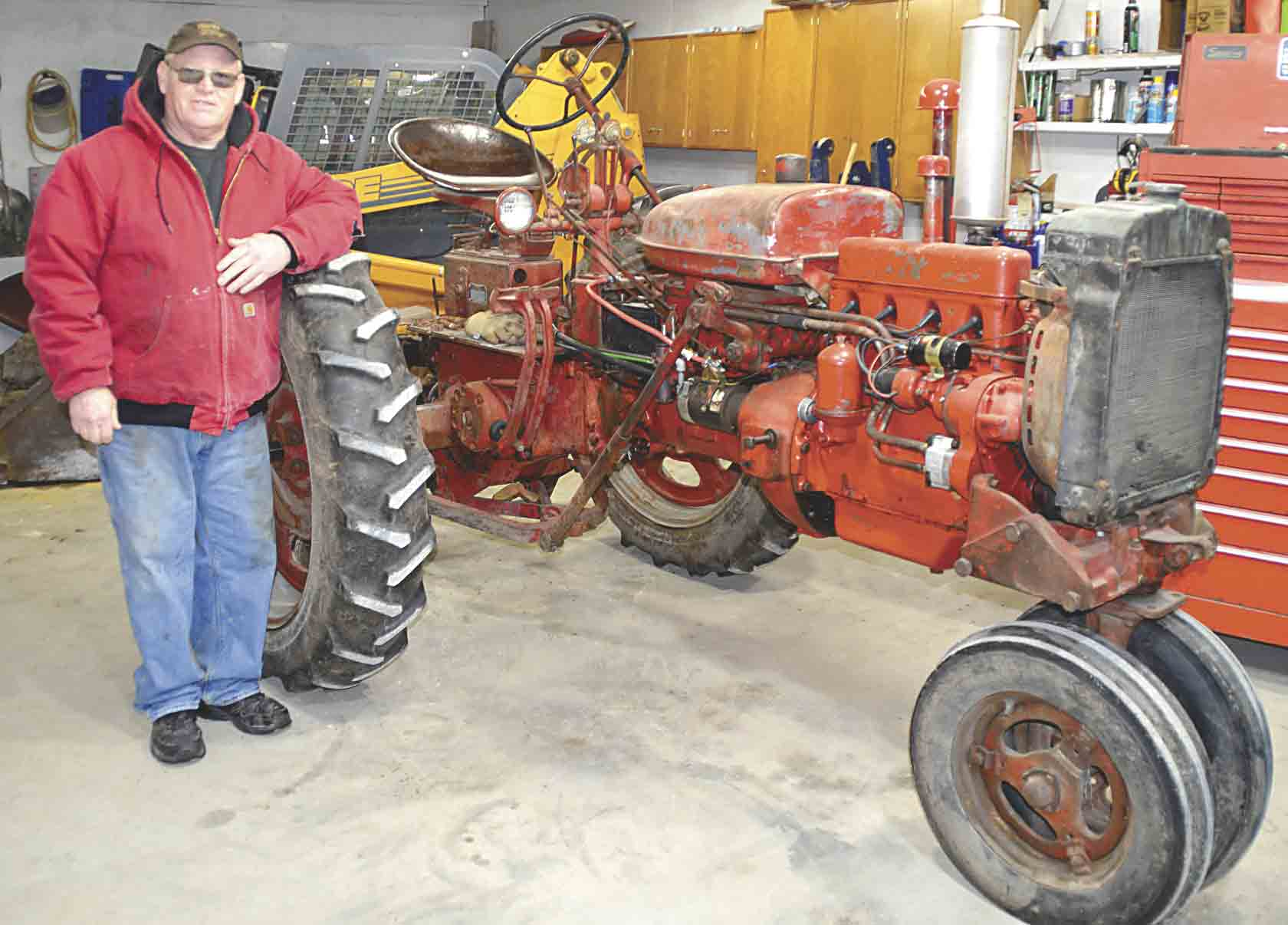 Dennis Marmann, owner of Rusty Iron Tractor Restoration, says he is lucky to be alive after triple-bypass surgery on Dec. 26, 2018, saved his life. Marmann is recovering nicely and looks forward to getting back into his shop so he can continue to restore tractors for his customers.(...