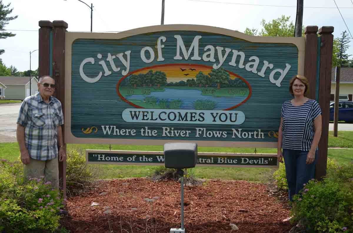 """Gordon Kelly and Julie Gordon (l-r) are """"Maynard Strong,"""" and for that, they have been named grand marshals of the Maynard Days parade on Saturday, June 23.Chris DeBack photoGordon, Kelly honored as Maynard Days grand marshalsBy Chris..."""