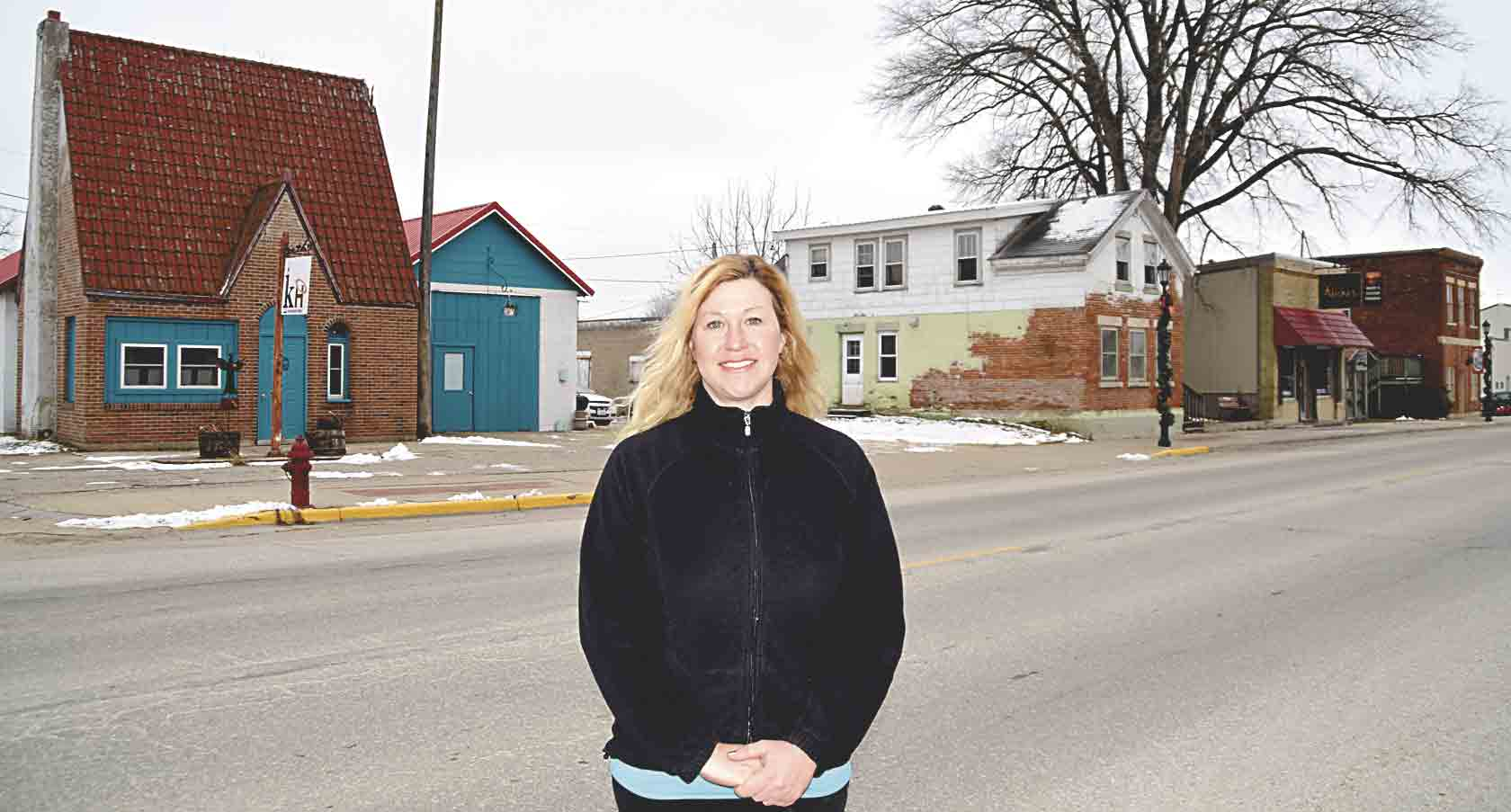 Tanya Tysland has begun renovations on two buildings along Mill Street in Clermont. The building located to the southwest of T's Brick City Spa (pictured at left), Krooked Halo's new name, will be a drive-thru coffee shop and ice cream store, while the building (far right) to...