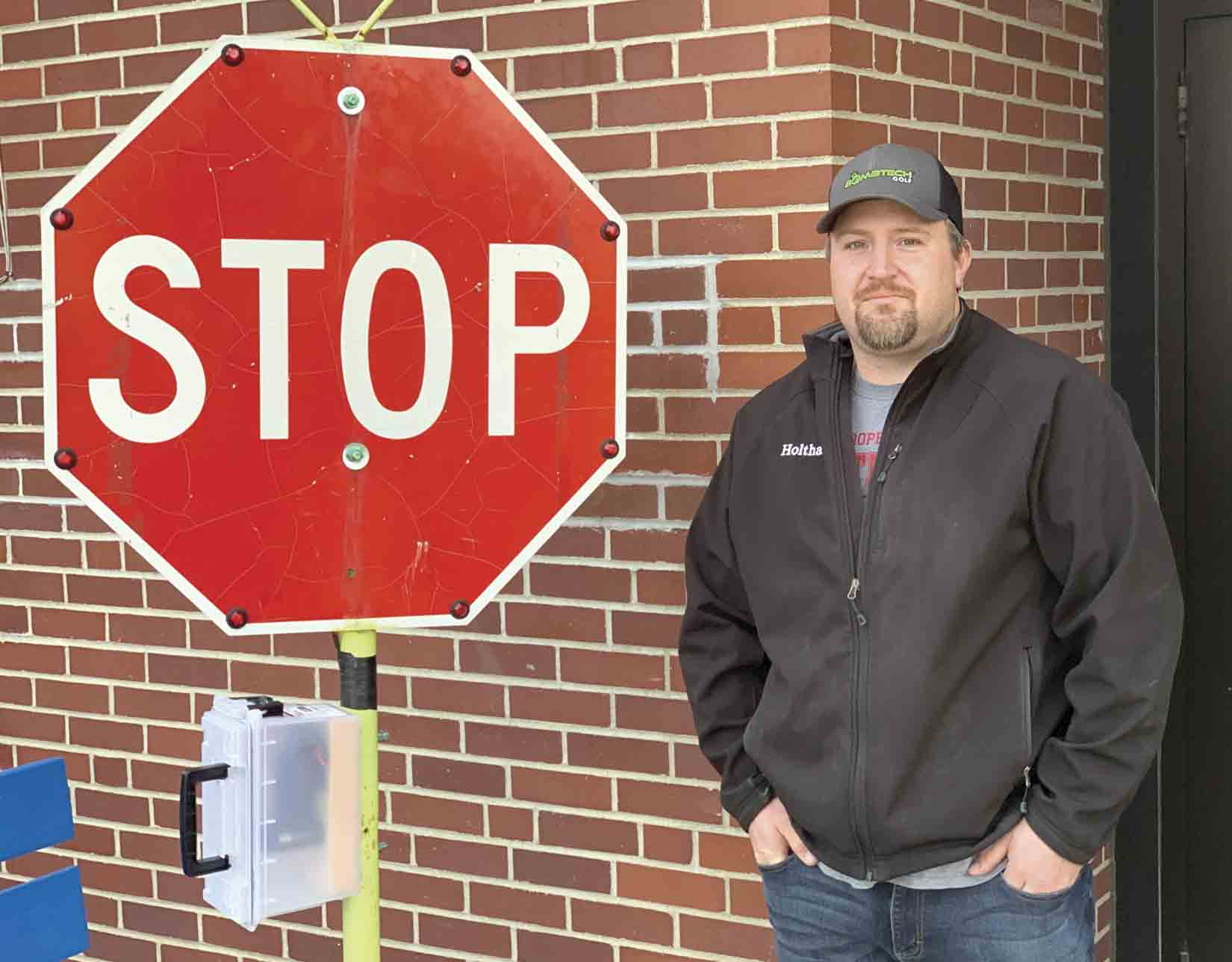 Thanks to the ingenuity of Ossian city council member Mitch Holthaus, the community was able to add a new lighted stop sign at the Highway 52 crossing near St. Theresa of Calcutta School. The City looked at purchasing a similar sign, but Holthaus was able to design and build his own version at a...