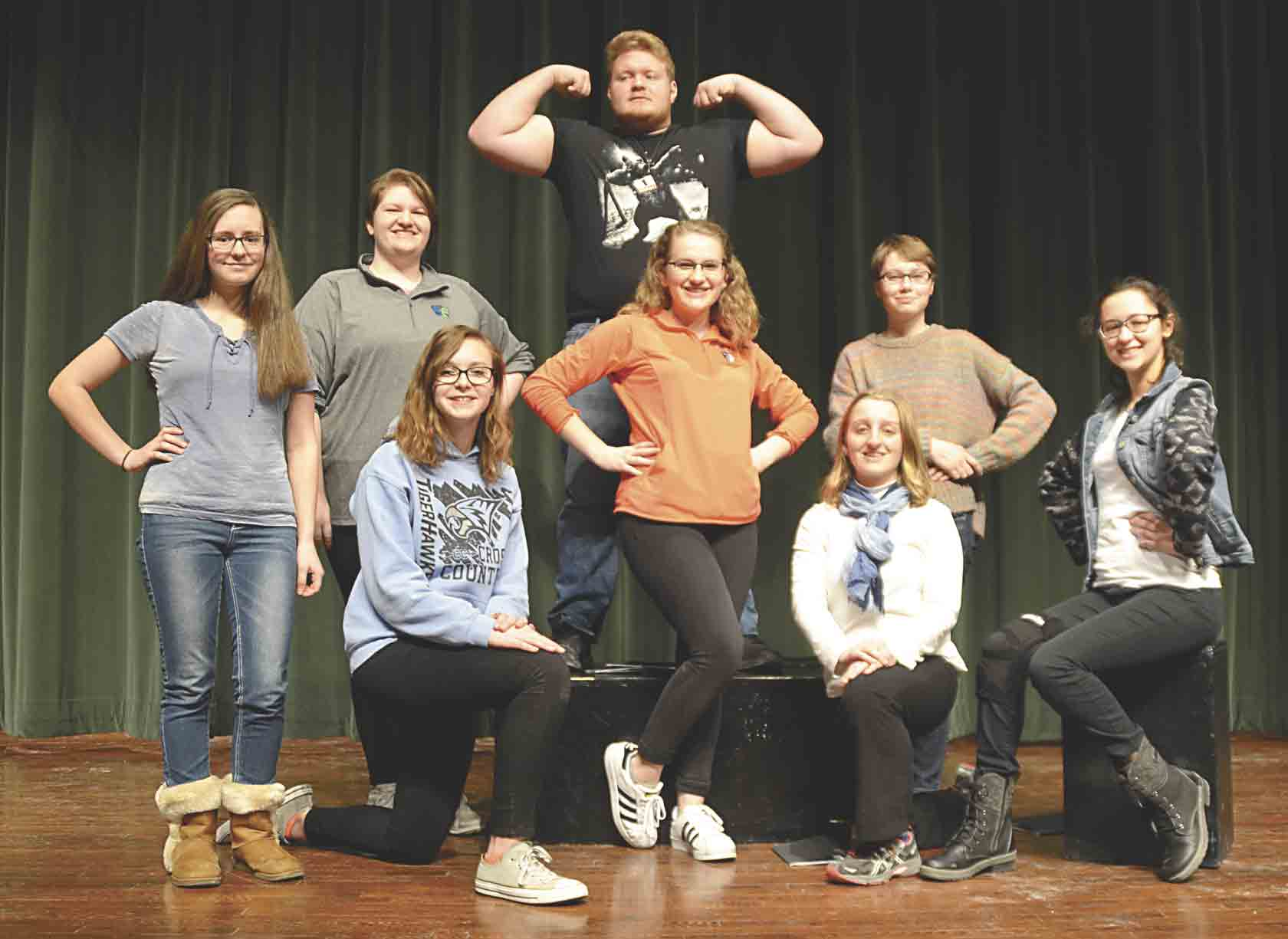 The North Fayette Valley Large Group Speech Team recently earned a Division I rating in Ensemble Acting, Readers Theatre, and Short Film at the Iowa High School Speech Association Northeast State Contest in Decorah. The Readers Theatre Team performed its skit for the NFV student body...