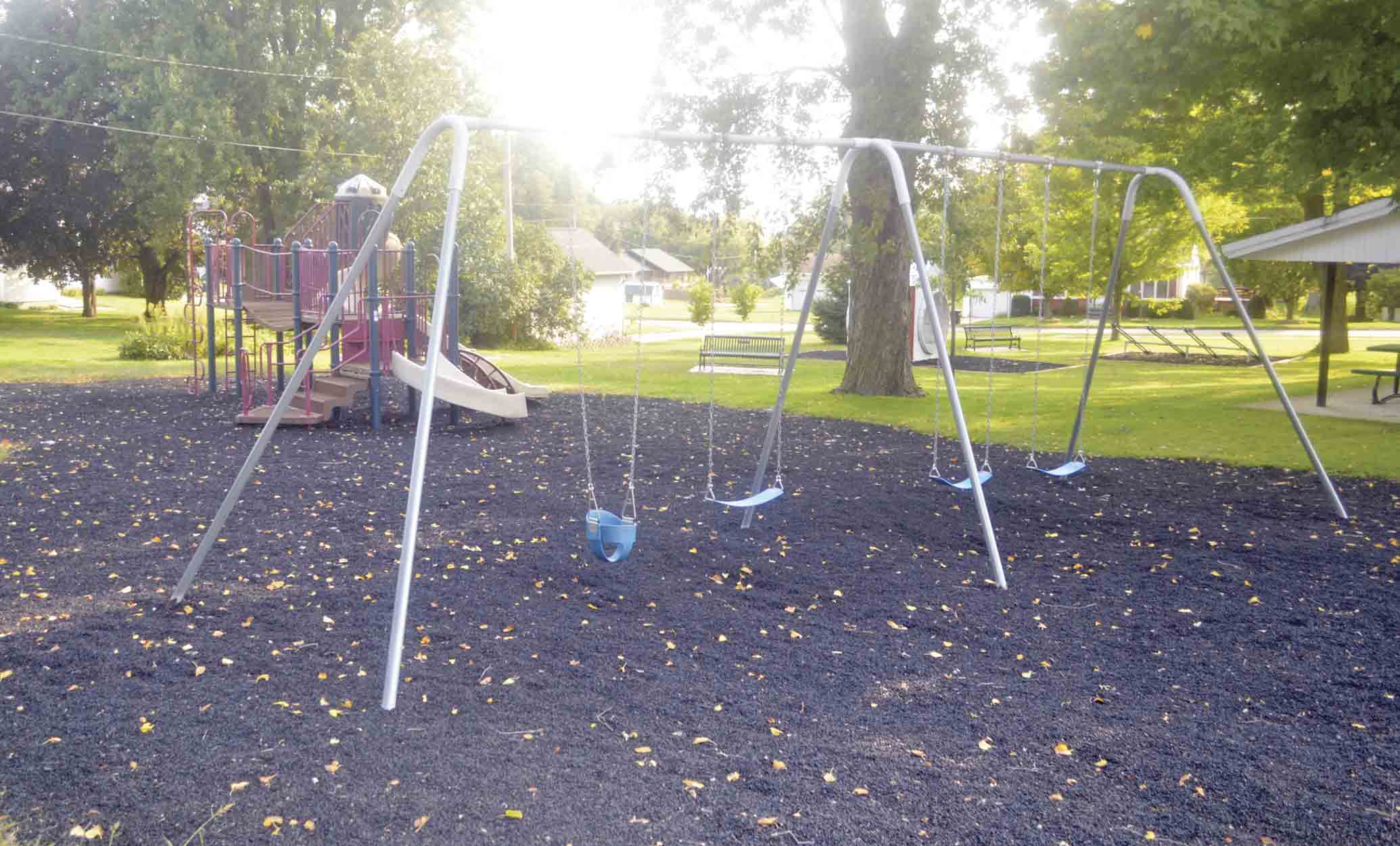 Earlier this summer, the Ossian City Park received an overhaul as the mulch that previously surrounded the playground equipment was replaced with safer and more budget friendly rubber pellets. City of Ossian maintenance employees Don DiLaura and Brian Zweibohmer worked with a Reilly Construction...