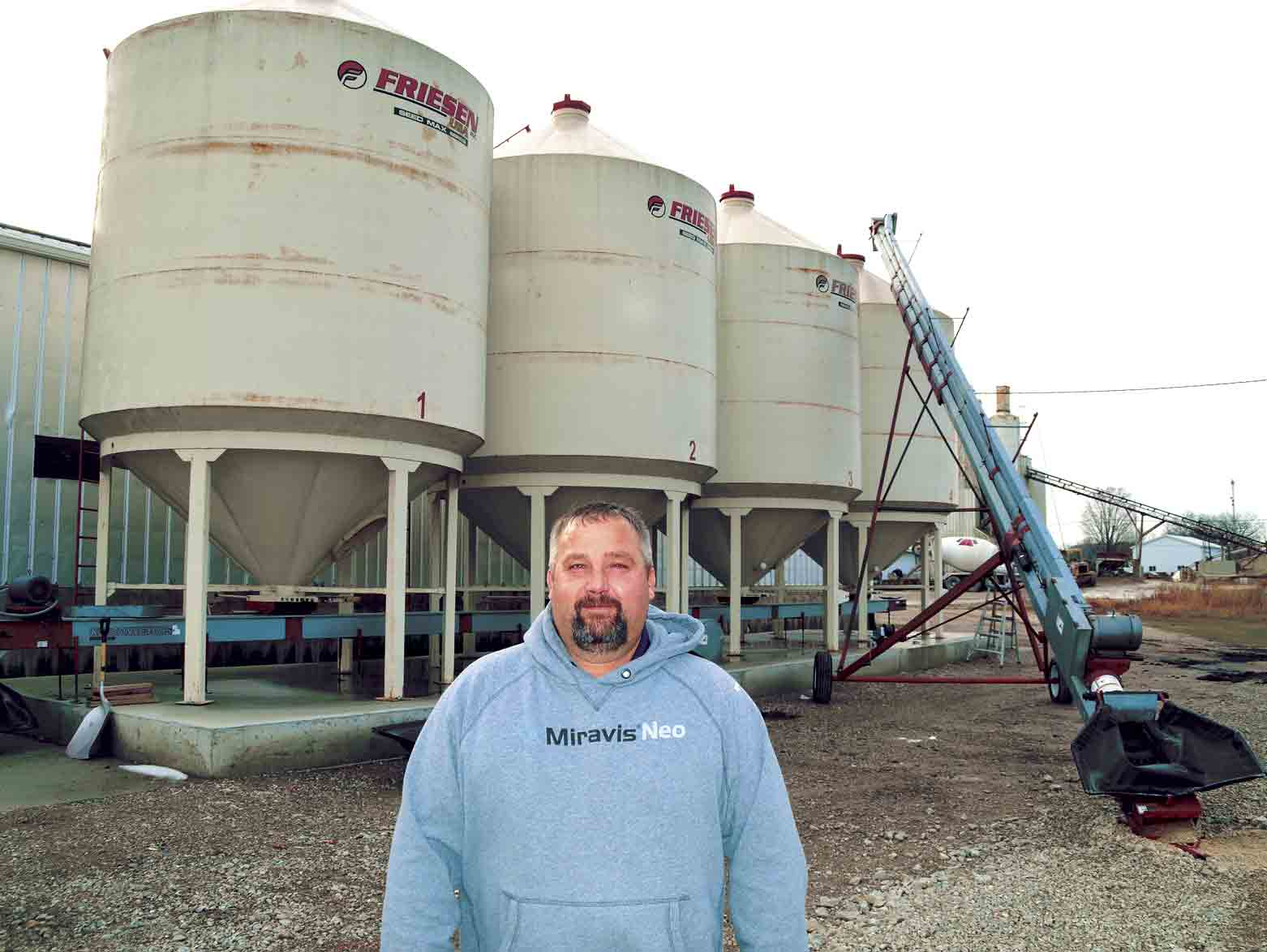 Nutrien Solutions Branch Manager Kennon Gumm is shown outside the bulk soybean treatment facility in West Union. (Jack Swanson photo)Nutrien expanding in West UnionBy Jack Swansonjswanson@fayettecountynewspapers.comNutrien Ag Solutions in West Union has...