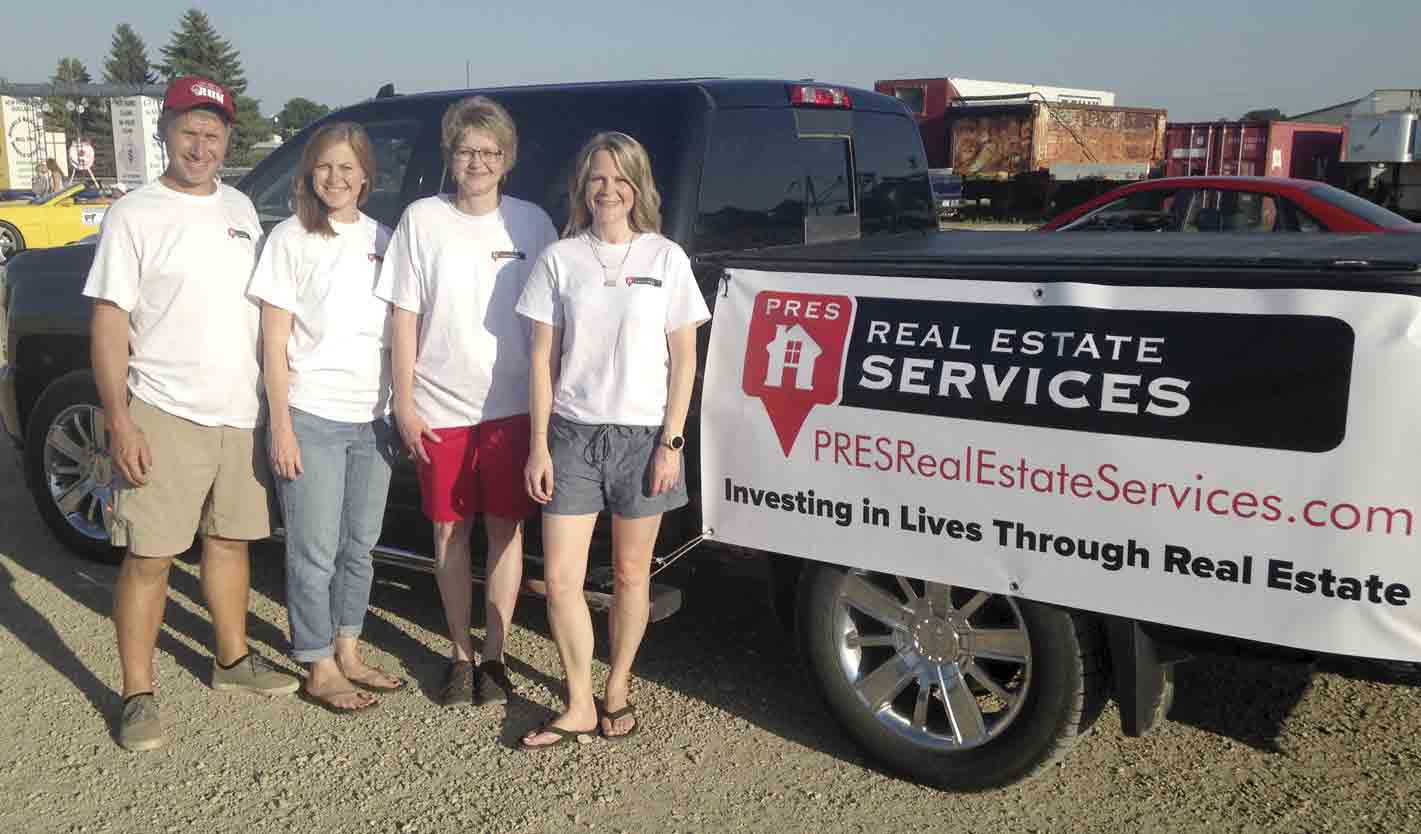 PRES Real Estate Services recently expanded to northeast Iowa as licensed realtors (l-r) Mike and Sarah Buchheit (Pella office), Sharon Kleve, and Tina Barness are looking forward to serving local communities. (Zakary Kriener photo)PRES Real Estate Services comes to Ossian...