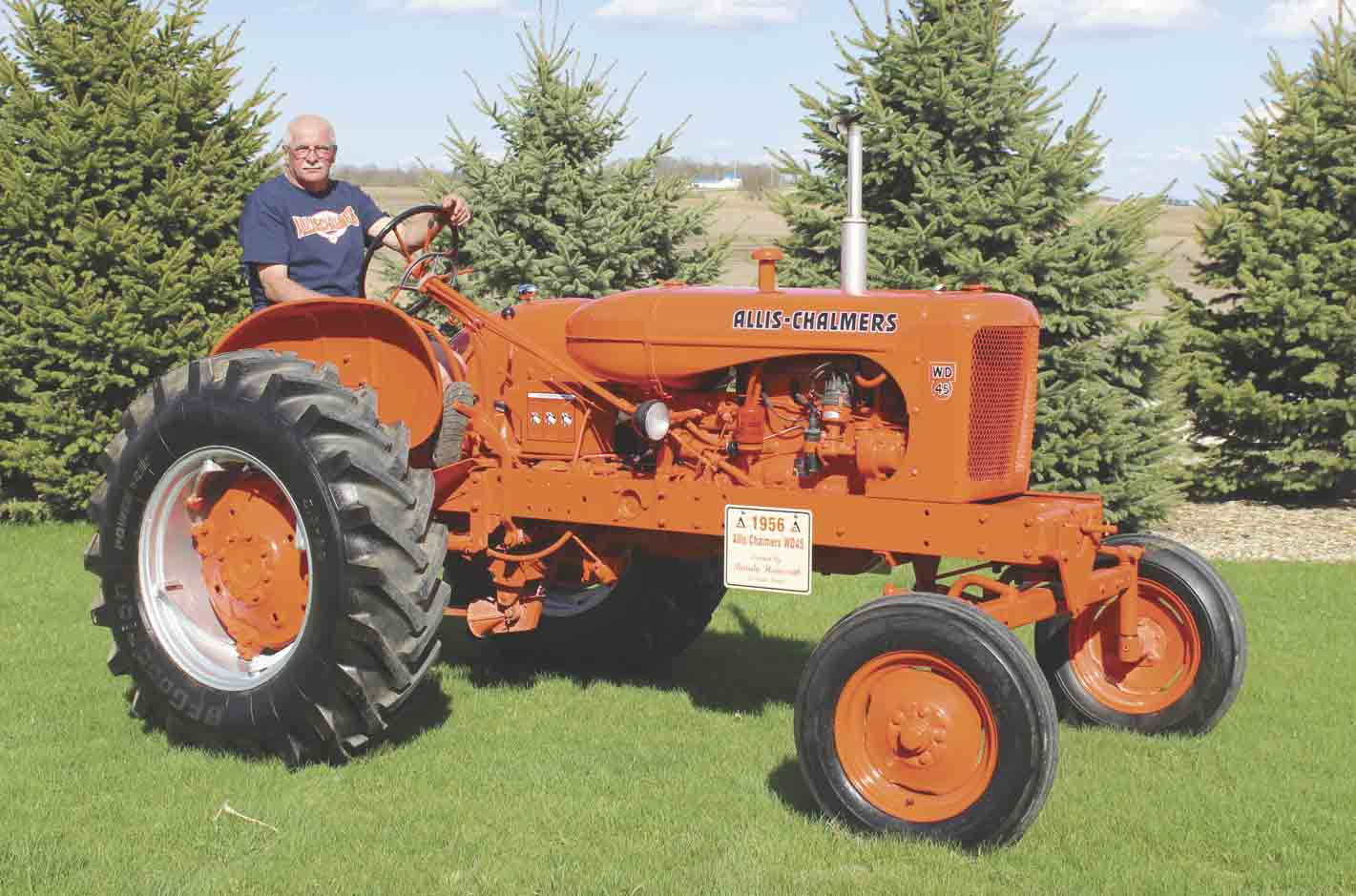 The featured tractor for the 26th Annual Castalia Tractor Days, June 9-10, will be a 1956 Allis-Chalmers WD45 owned by Randy Hemesath of Ossian.  	Allis WD45 to highlight 'Tractor Days'  Zakary KrienerNews Writer	zkriener@fayettepublishing...