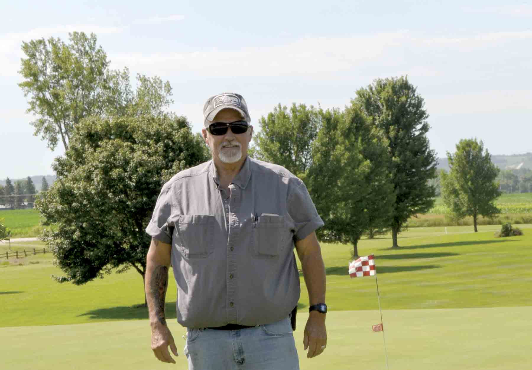 Clermont Fire Chief, Randy Wiedenhoff, prepares for the ninth annual Clermont and Elgin Fire Department golf tournament at Pleasant Valley Golf and Sports Club in Clermont.In the past, proceeds from the event have gone toward the purchase of a variety of equipment needed for the departments....