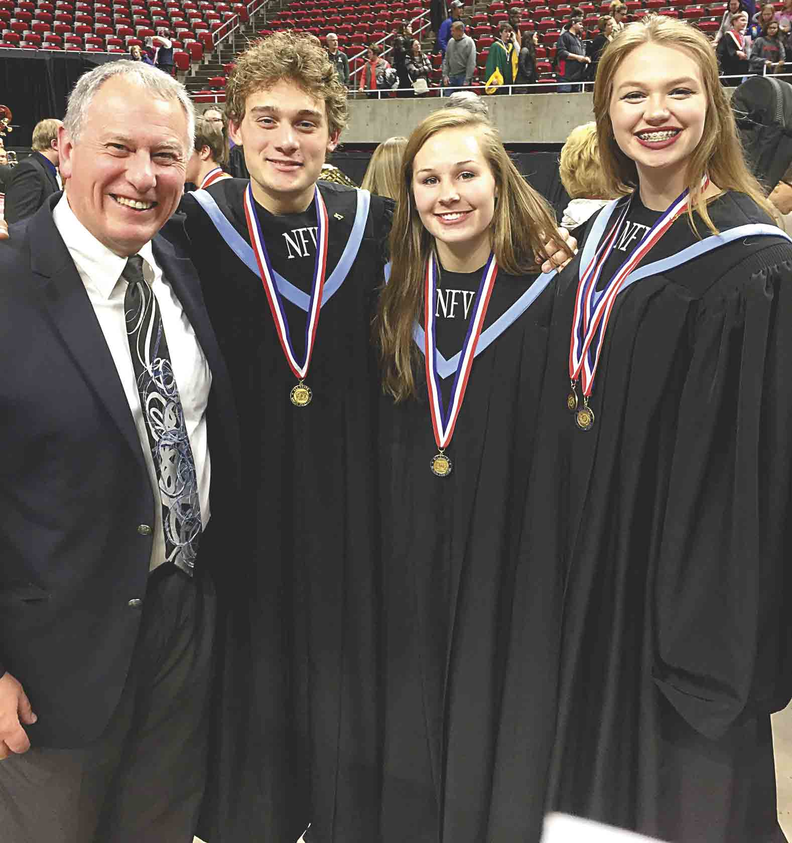 Three North Fayette Valley students participated in the 601-member All-State Choir at the annual All-State Music Festival Thursday-Saturday, Nov. 16-18, in Ames. It is the first time since 1991 that North Fayette and now North Fayette Valley has had three students performing in the choir....