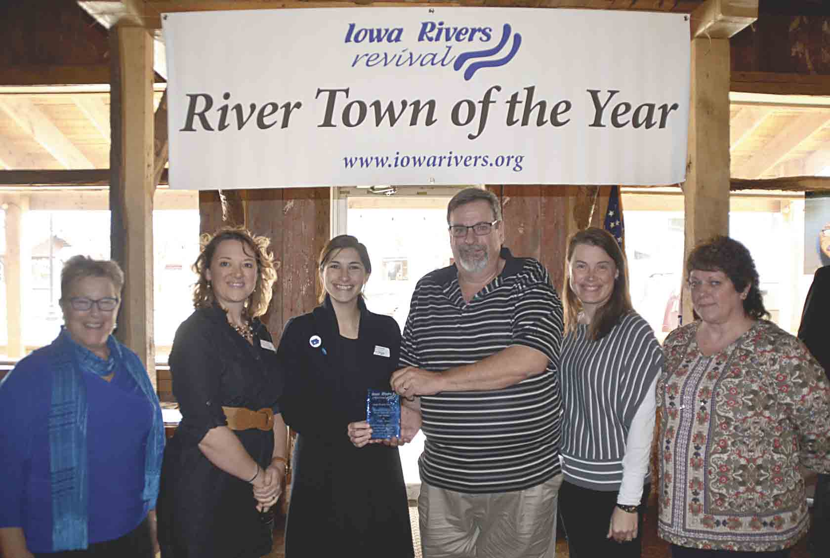 Elgin was officially awarded the Iowa River Revival (IRR) River Town of the Year award on Friday, March 16, at Dotzy's in Elgin. Members from IRR and the City of Elgin, including (l-r) Robin Fortney, IRR Board of Directors secretary; Jenn Dreier, IRR assistant director; Molly Hanson,...