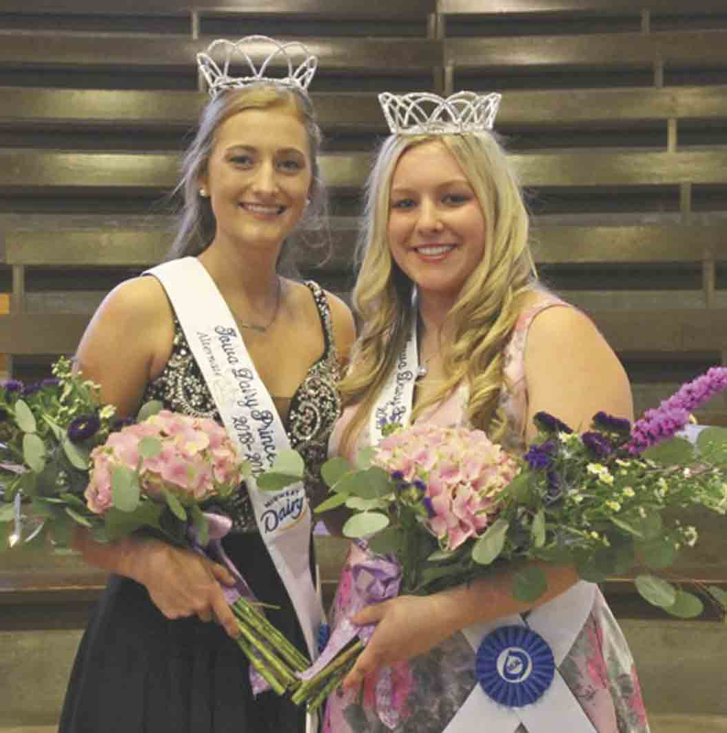 Jessica Schmitt (right) of Fort Atkinson was crowned the 2018-2019 Iowa Dairy Princess last week at the Iowa State Fair. Schmitt, who is also the Winneshiek County Fair Queen, was joined by fellow local royalty Grace Howe of Waukon, who was named the Iowa Dairy Princess Alternate. Not...