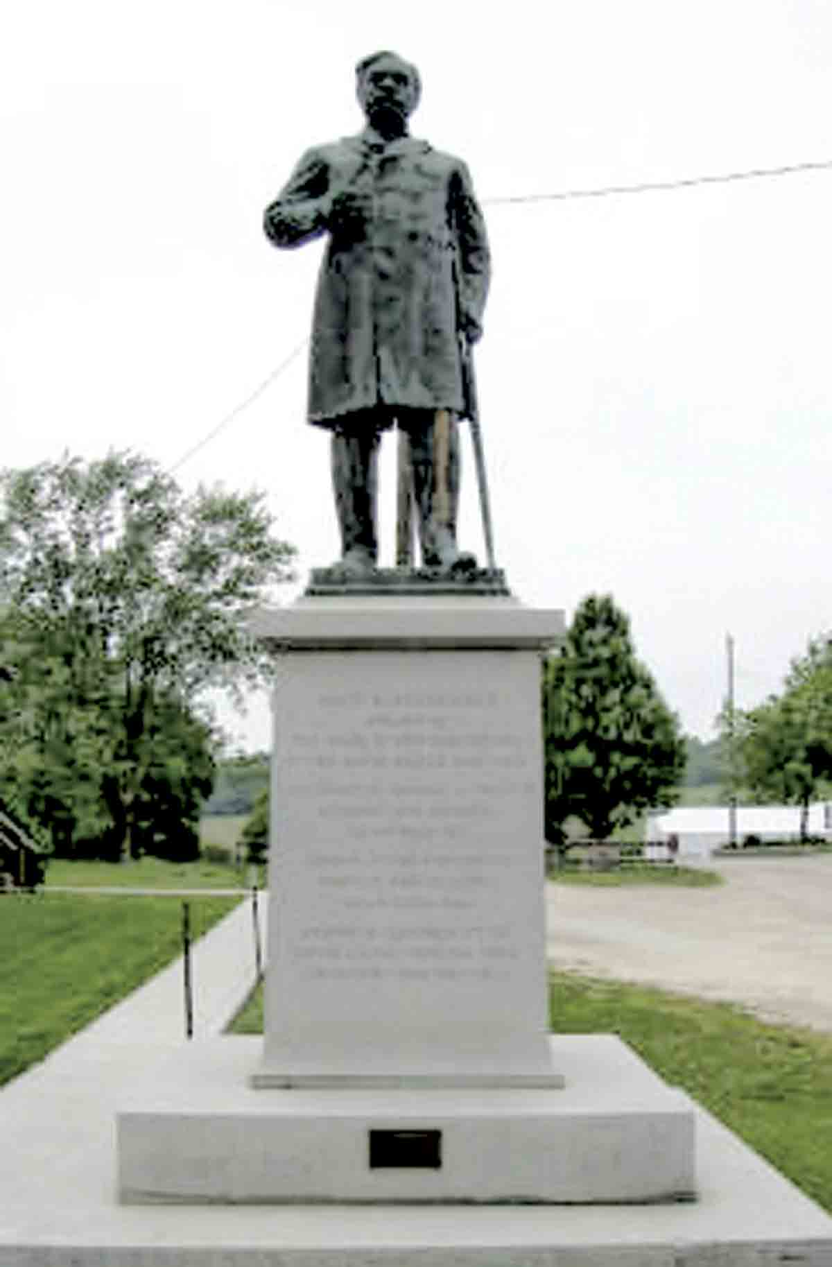 Erected in 1903, the historic Henderson statue depicts David B. Henderson who once served Iowa's 3rd congressional district in the U.S. House, and later served as the house speaker.(submitted photo)Nationally Registered Historic Places of Clermont: Senator...