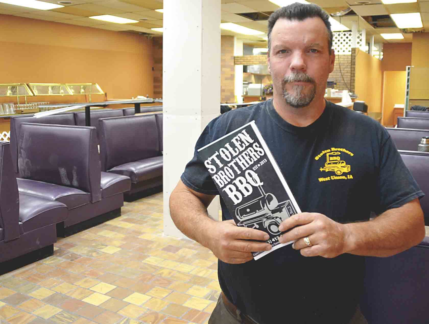 Stolen Brothers BBQ is close to reopening its doors at its new location in Lilac Plaza in West Union. Taking over the old Pizza Palace location, Stolen Brothers owner Dan Mueller (pictured) will be adding some new menu items and changing to more of a sit-down restaurant. The wait is almost...