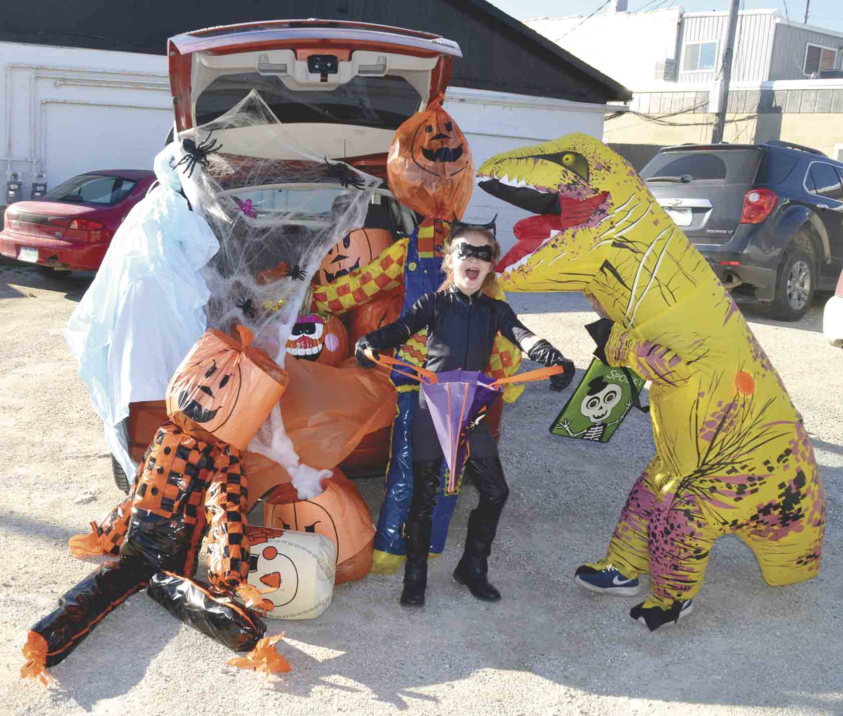 Don't miss the West Union Chamber — A Main Street Community's Annual Trunk-'n'-Treat from 2 to 4 p.m. Sunday, Oct. 21, in downtown West Union. It is just about the only place you'll find a T-Rex (Marshall Opperman) eating Catwoman (Mikah Opperman)....