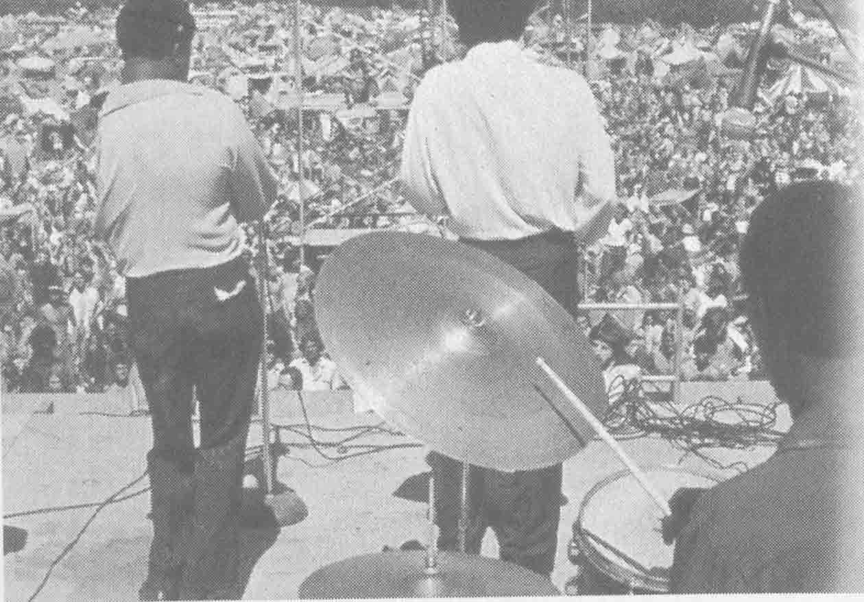 """Thousands of """"hippies"""" invaded the small community of Wadena in the summer of 1970 to participate in the now-legendary Rock Fest. Here, the crowd rocks out to one of the many big-name bands to perform at the event that put Wadena on the map. (Union file photo)..."""
