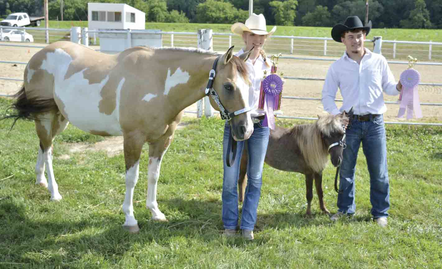 Katelyn Kleiboer (left) showed the Supreme Champion Gelding and Brendan Lovstuen (right) had the Reseve Champion Gleding during the 2019 Winneshiek County Fair Horse Show. (file photo)It will be 'Show and Go' for 4-H and FFA livestock exhibitors this year in Winneshiek Co....