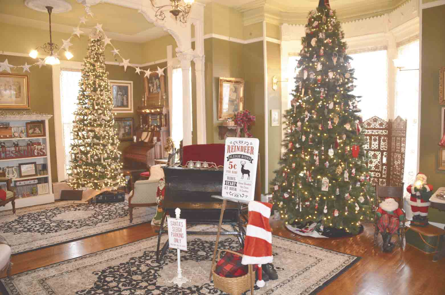 The parlor in the Ziegler Mansion looks like something that Ebenezer Scrooge could have came home to. It is decorated in the Victorian style and even has a full-size open sleigh in the room.Monroes inviting public to experience a Victorian Holiday first handBy Jack Swanson...