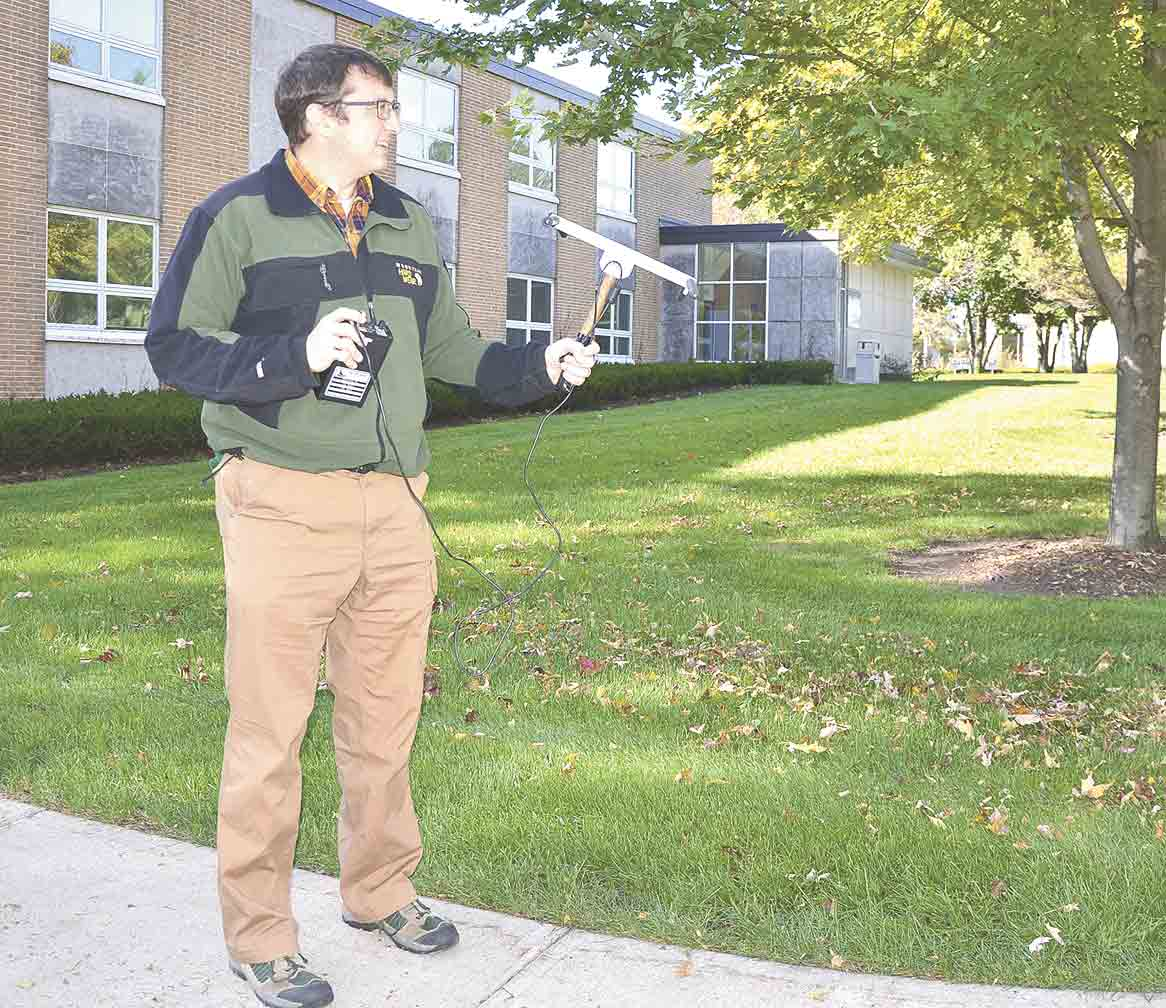 UIU Assistant Professor of Biology Paul Skrade tests telemetry equipment used to monitor locations of feral cats with tracking collars through grant-funded research. (Submitted photos)Cat trapping questioned by Fayette pet ownerBy Jack Swansonjswanson@...